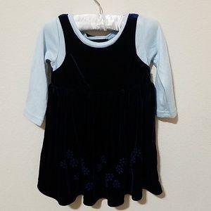 Navy Blue Girl's Dress